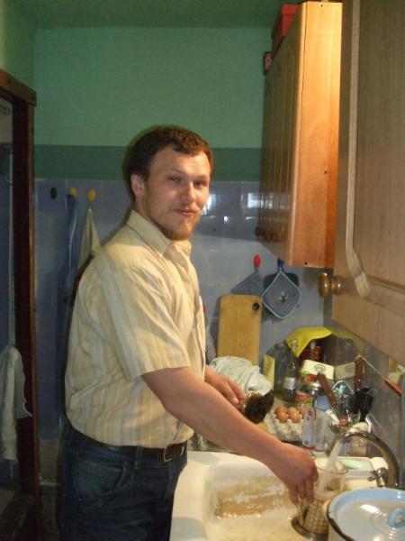 На кухне скульптора