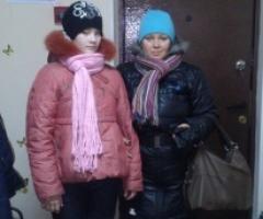 Семья Растегаевых, мама Ирина с дочерью Эвелиной 11 лет.