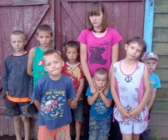 Поможем многодетной семье из Омской Области (8 детей) купить корову!