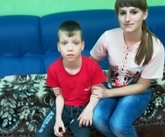 Володя сирота, инвалид 12 лет после операции на реабилитацию