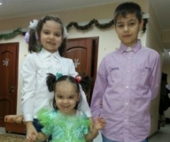 Рустам, Богдана, Малика и Кира