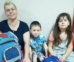 Наталья Нутаутас с детьми Лерой и Витей