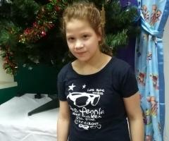 Виктория, 12 лет, сирота из Волгоградского интерната для умственно отсталых детей, приехала на обследование и лечение