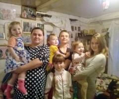 В нашей семье 7 детей и нам очень нужна Ваша помощь! Тетерина Г.В., 7 детей
