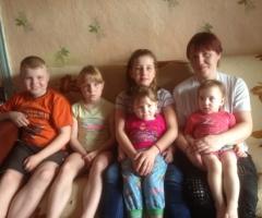 Доходы нашей семьи очень маленькие. Мы нуждаемся в вашей помощи! Синельникова Н.А., 5 детей