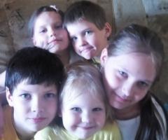 Надеюсь, что мы сможем встать на ноги с Вашей помощью! Питерякова Т.В., 5 детей