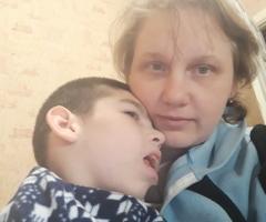 Растить одной ребенка инвалида трудно, нам нужна помощь! Ефремова Е.В, 3 детей, один инвалид