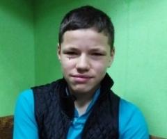 Серёжа из Екатеринского детского дома, 13 лет. На реабилитации после операции.