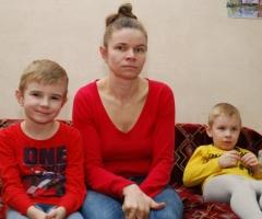 Жанна Х. и трое детей: Игнат, Матвей, Виктория