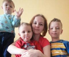 Очень прошу помочь моей семье в приобретении продуктов! Барабанова Е. Е., мать-одиночка, 3 детей