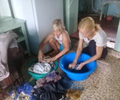 У меня 4 детей, и стираю я вручную. Я хочу попросить у вас помощи на приобретение стиральной машины. Першукова Анна Ивановна, Курганская область, многодетная семья, 4 детей.