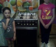 Наша плита пришла в негодность, а духовка вообще не работает, нужна срочная замена! Карпова З.Ф., 3 детей.