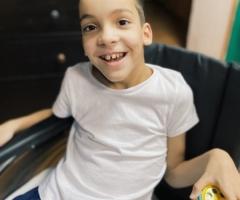 Самат из Башкирии. Сирота, 10 лет. Приехал на операцию и реабилитацию.