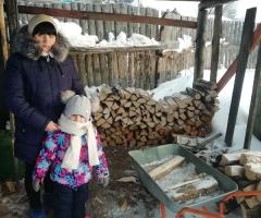 Дрова кончаются, помогите собрать на дрова нам с дочей. Обухова А. О., мама одиночка