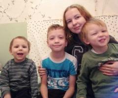 Мы с детьми Вам будем очень благодарны, ведь вы делаете добро людям.  Барабанова Е. Е., многодетная, 3 детей.
