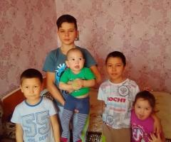 Обращаюсь к Вам с мольбой о помощи! Джуматаева А. С., многодетная семья, 5 детей.