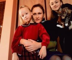 Я одна воспитываю троих детей.  Самошкина Е.А., 3 детей.