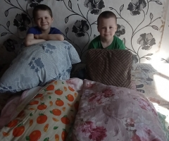 Нам очень нужно заменить наши старые одеяла! Евдакименко Н. И., 4 детей.