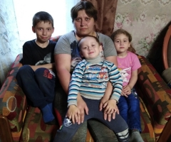 В декабре прошлого года случилось ещё одно горе. Устюгова С.А., 3 детей.
