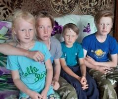 В связи с пандемией муж мало получает. Сыстерова А.А., многодетная семья, 5 детей.