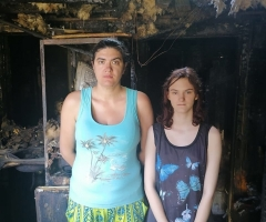 Просим помощь на восстановление дома после пожара. Березина О. О., Малообеспеченные, 1 ребёнок