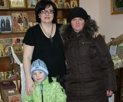 Семья Дельва - Артемка с мамой