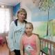 Наталья с дочкой Ариной. Приехали на лечение в Москву.
