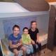 Дети очень счастливы, что теперь могут спать на такой удобной и красивой кровати!