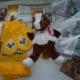 Новогодние подарки, пастила, печенье, чай, игрушки, пазлы, ободки,шарф и варежки, рюкзачок
