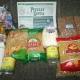 Новогодние подарки, продукты - гречка, рис, макароны, сгущенка,манка, сахар, мыло