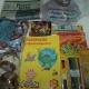 Новогодние подарки, Новогодние шарики, школьные принадлежности, пазлы