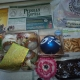 Новогодние подарки, Новогодние шарики, сладости, варежки