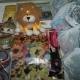 Новогодние подарки, Новогодние шарики, скатерть, игрушки
