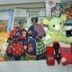 Новогодние подарки, перчатки, детское белье, игры