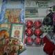 Новогодние подарки, елочные украшения, перчатки