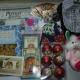 Новогодние подарки, украшения новогодние, одежда, игрушки