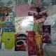 Новогодние подарки, плетение из фольги, домино, развивающие книжечки, белье