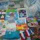 Новогодние подарки, средства личной гигиены, лего конструктор, шапка, игрушки