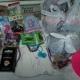 Новогодние подарки,резиночки, шапка,игрушки, чай, кофе, лего 4 шт.