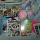 Новогодние подарки, литература детская, санки, вещи, раскраски