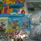 Новогодние подарки, литература детская, игрушки, раскраски