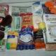 Новогодние подарки, постельное белье, продукты,школьные принадлежности