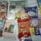 Новогодние подарки, продукты, средства личной гигиены, школьные принадлежности