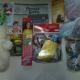 Новогодние подарки, Новогодние шарики, шпроты, ананасы, сладости, игрушки