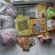 Новогодние подарки, сахар, попкорн, паштет, крекер, ананасы, чай, литература детская, игрушки