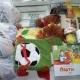 Новогодние подарки, чай, ананасы, сгущеное молоко, паштет, печенье, вафли, литература, игрушки