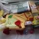 Новогодние подарки, вафли, чокобой, сгущеное молоко, кукуруза, печень трески, игрушки