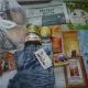 Новогодние подарки, сгущеное молоко, кукуруза, икра трески, печенье, раскраски, игрушки, джинсы