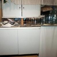 Вся мебель на кухне  и в комнате сделана  из наборных щитов