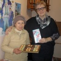 Римма Григорьевна с  Оксаной Михайловной в трапезной
